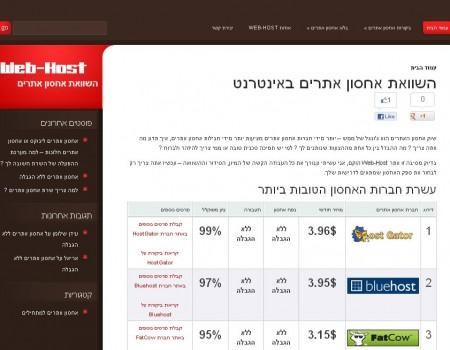 Web-Host השוואת אחסון אתרים