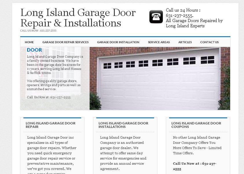 """בניית אתר לשיפוצניק בארה""""ב – RC Garage Door Repair"""