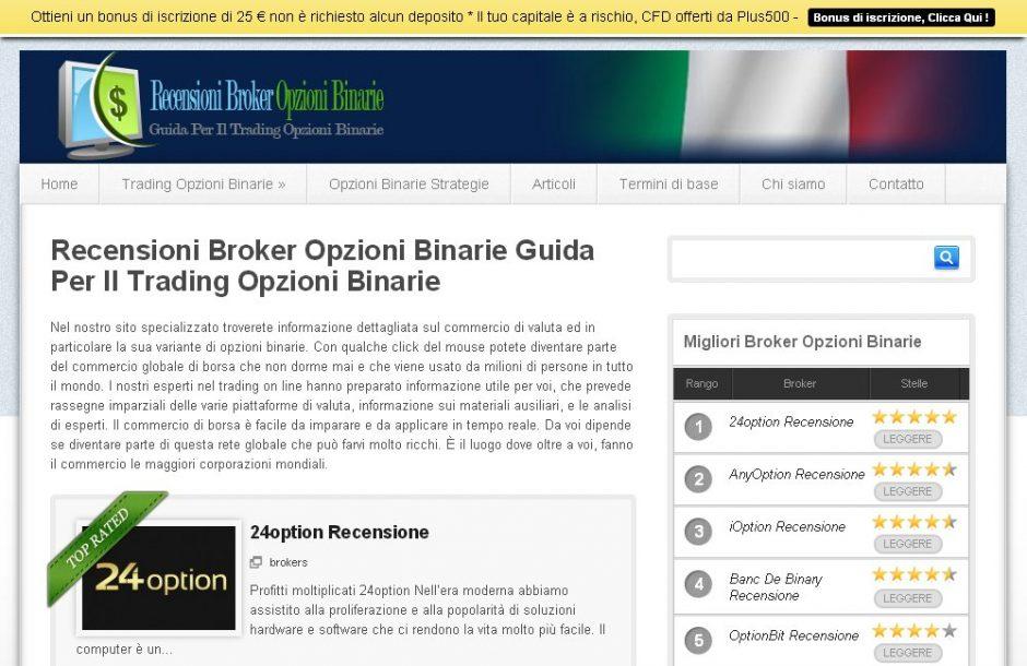 בניית אתר להשוואת אופציות בינאריות באיטלקית – Recensioni Broker Opzioni Binarie